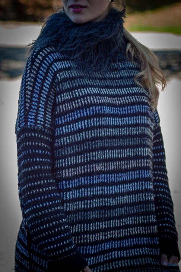 genser tykke og smale striper