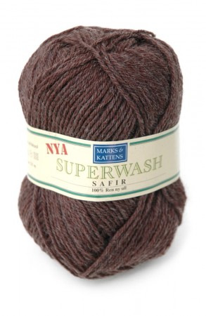 Superwash Safir - brun 1421